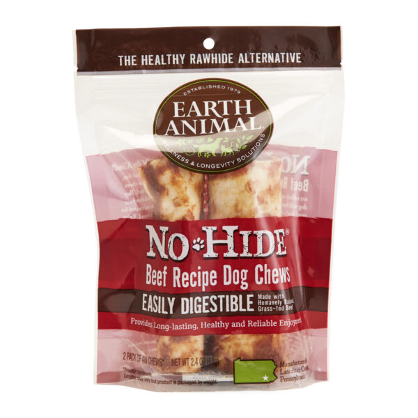 Earth Animal No-Hide Beef Chew - Small 2 pack