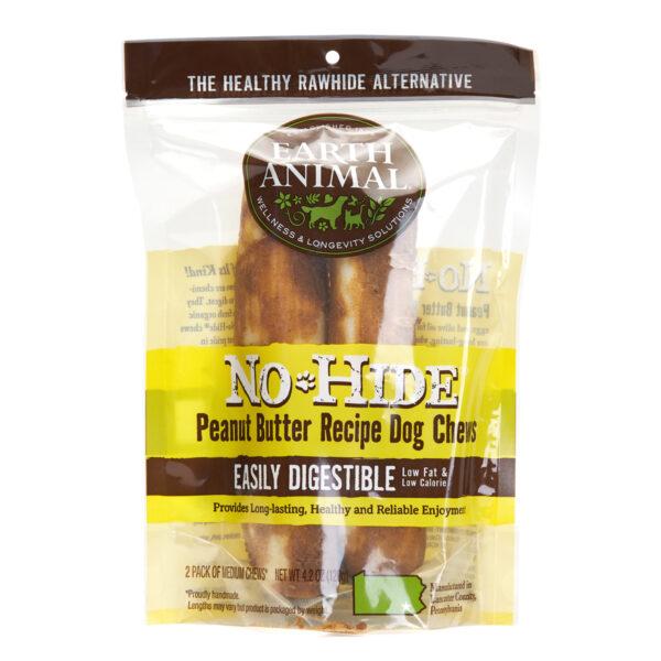 Earth Animal No-Hide Peanut Butter Chew - Medium 2 pack