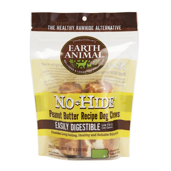 Earth Animal No-Hide Peanut Butter Chew - Small 2 pack