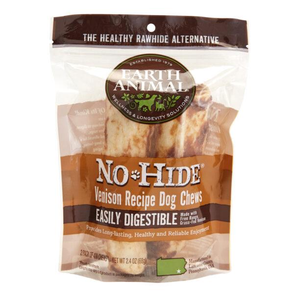 Earth Animal No-Hide Venison Chew - Small 2 pack