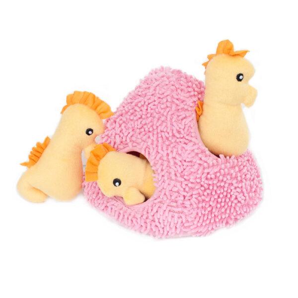 ZippyPaws Burrow Seahorse n' Coral Interactive Dog Toy