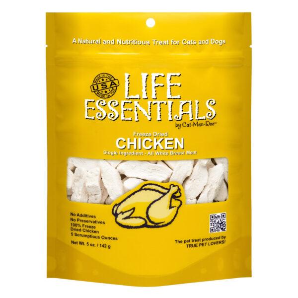 Cat-Man-Doo Life Essentials Freeze-Dried Chicken (5oz bag)