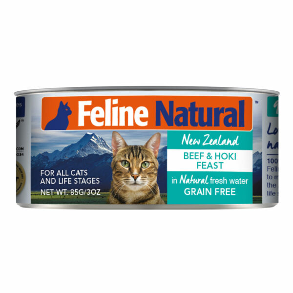 Feline Natural Can Beef & Hoki Feast Cat Food (3oz)
