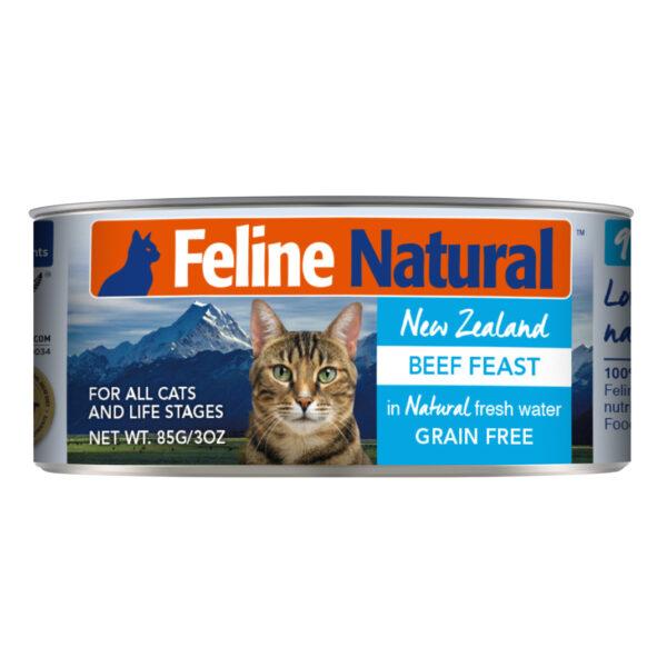 Feline Natural Can Beef Feast Cat Food (3oz)