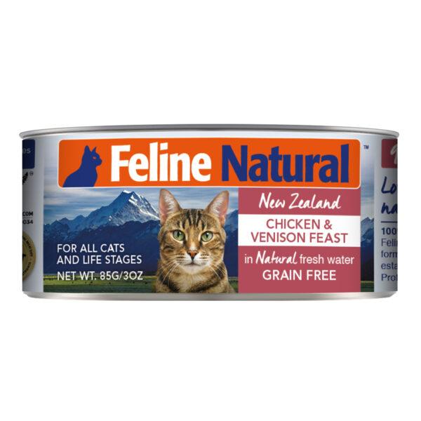 Feline Natural Can Chicken & Venison Feast Cat Food (3oz)