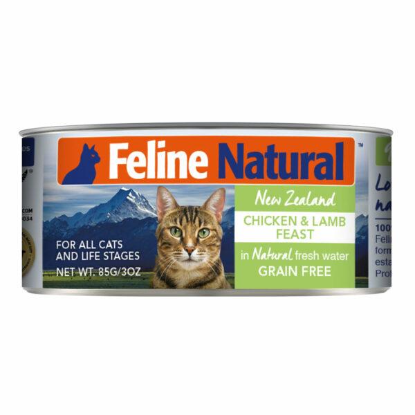 Feline Natural Can Chicken & Lamb Feast Cat Food (3oz)