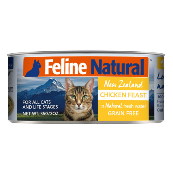 Feline Natural Can Chicken Feast Cat Food (3oz)