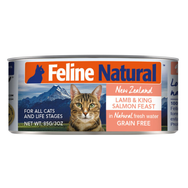 Feline Natural Can Lamb & King Salmon Feast Cat Food (3oz)