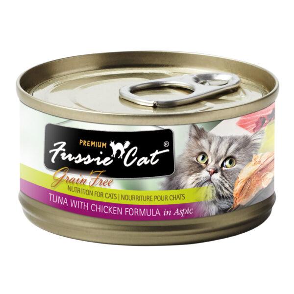 Premium Fussie Cat Grain Free Tuna with Chicken in Aspic Formula Canned Cat Food