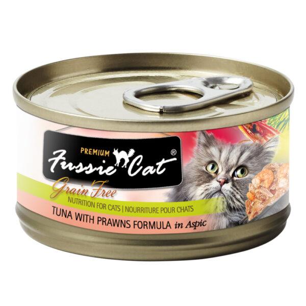 Premium Fussie Cat Grain Free Tuna with Prawns in Aspic Formula Canned Cat Food
