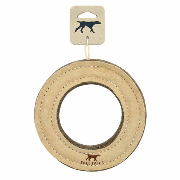 Tall Tails Leather Ring Dog Toy