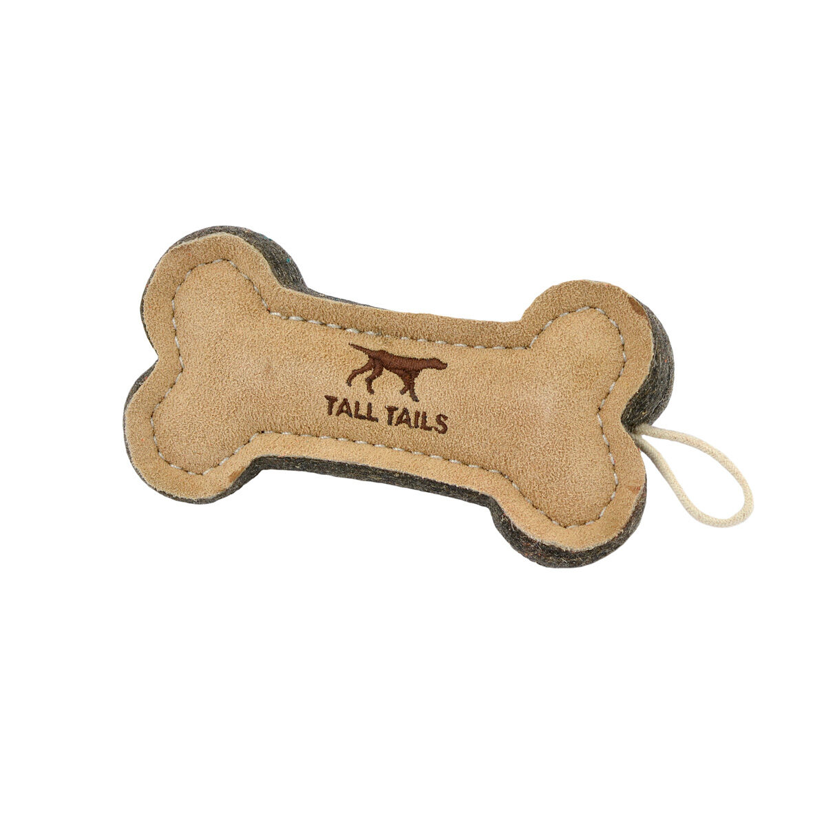 Tall Tails Natural Leather Bone Dog Toy