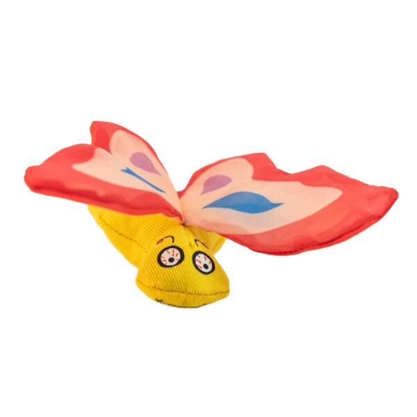 Yeowww! Catnip Red Butterfly Cat Toy