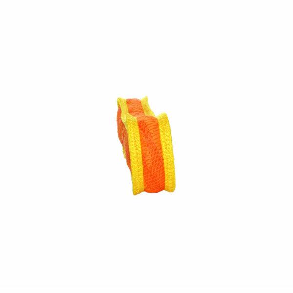 Duraforce Bone Orange Yellow Dog Toy