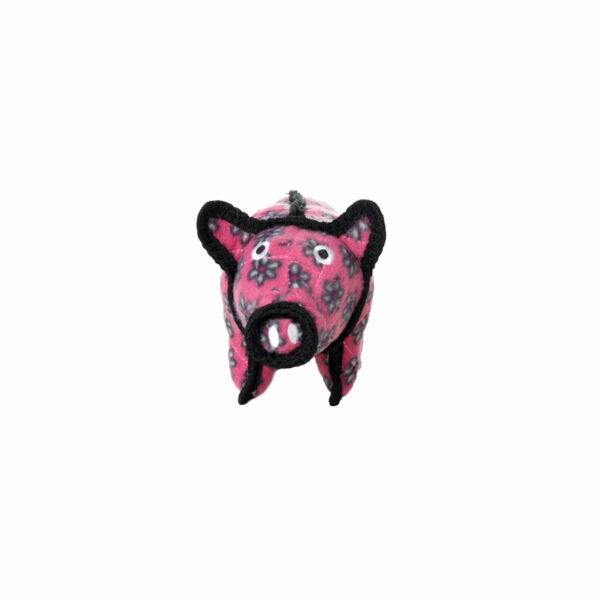 Tuffy JR Barnyard Pig Pink Flower Dog Toy
