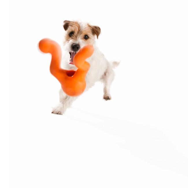 West Paw Zogoflex Tizzi Dog Toy (Tangerine)