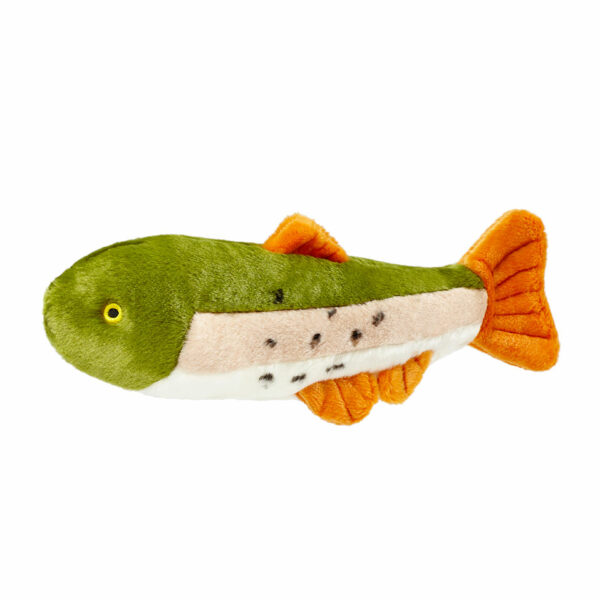 Fluff and Tuff Ruby Rainbow Trout Dog Toy