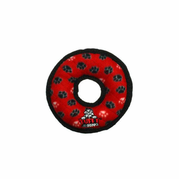 Tuffy JR Ring Red Paw Dog Toy
