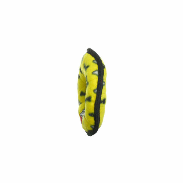 Tuffy JR Ring Yellow Bone Dog Toy