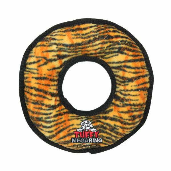 Tuffy Mega Ring Tiger Dog Toy