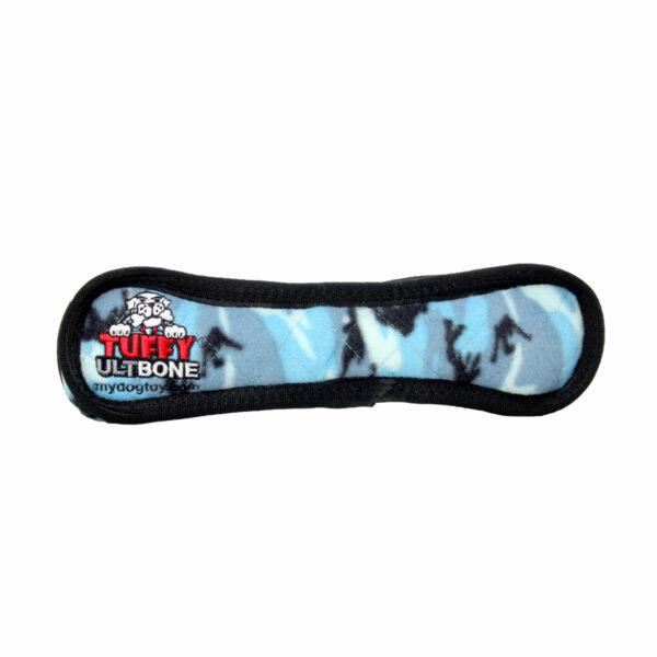 Tuffy Ultimate Bone Blue Camo Dog Toy