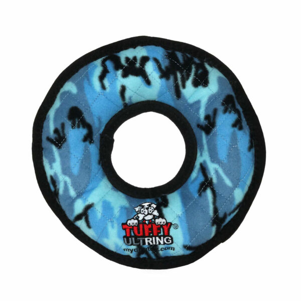 Tuffy Ultimate Ring Blue Camo Dog Toy