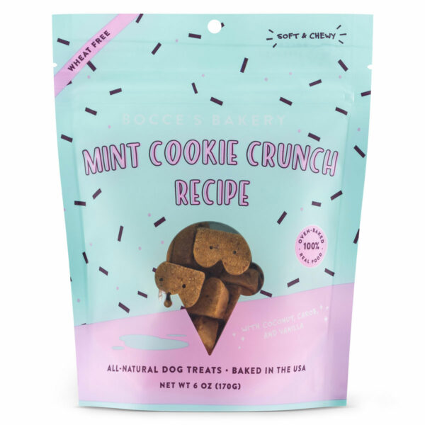 Bocce's Bakery Scoop Shop Mint Cookie Crunch Dog Biscuits