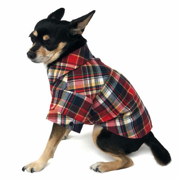 Dogo Pet Red Flannel Button Down Shirt