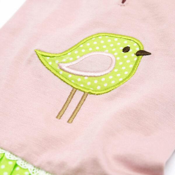 Dogo Pet Little Birdy Dress closeup