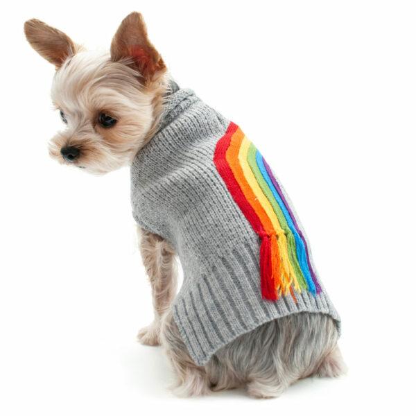 Dogo Pet Rainbow Turtleneck Sweater