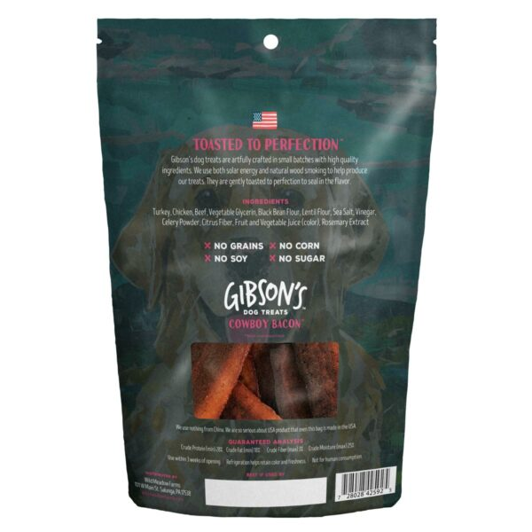 Gibson's Toasted Cowboy Bacon with Beef Jerky Dog Treats