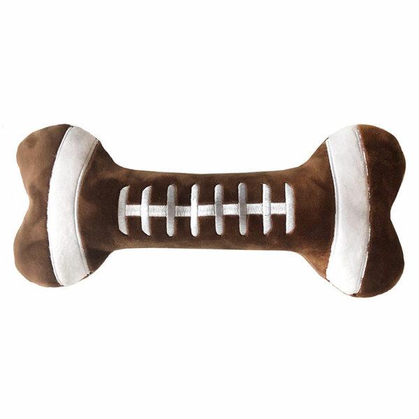 Lulubelles Football Bone Dog Toy