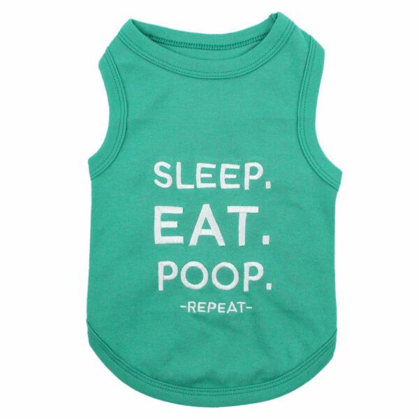 Parisian Pet Eat Sleep Poop Tank