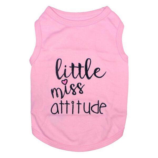 Parisian Pet Little Miss Attitude Pink Tank