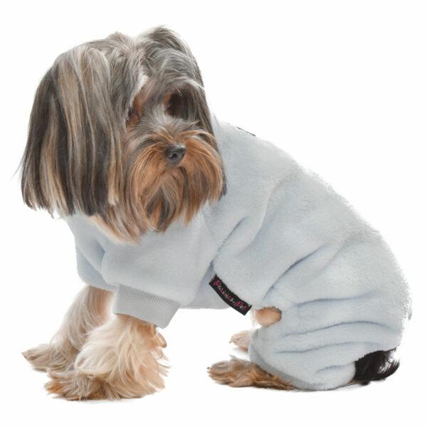 Parisian Pet Velour Grey Pajamas