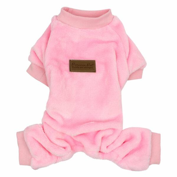 Parisian Pet Velour Pink Pajamas