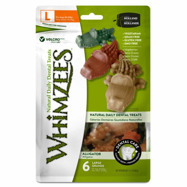 Whimzees Dental Chews Alligator (Large 6pc bag)