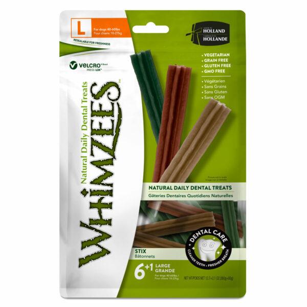 Whimzees Dental Chews Stix (Large 7pc bag)
