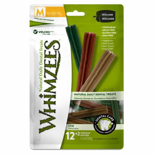 Whimzees Dental Chews Stix (Medium 14pc bag)