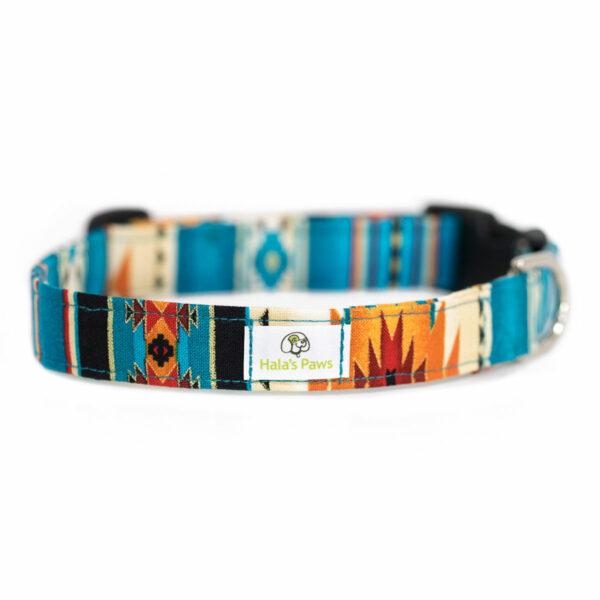 Hala's Paws Collar Blue Aztec