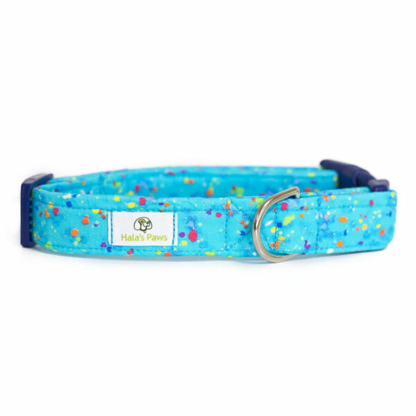 Hala's Paws Collar Blue Confetti