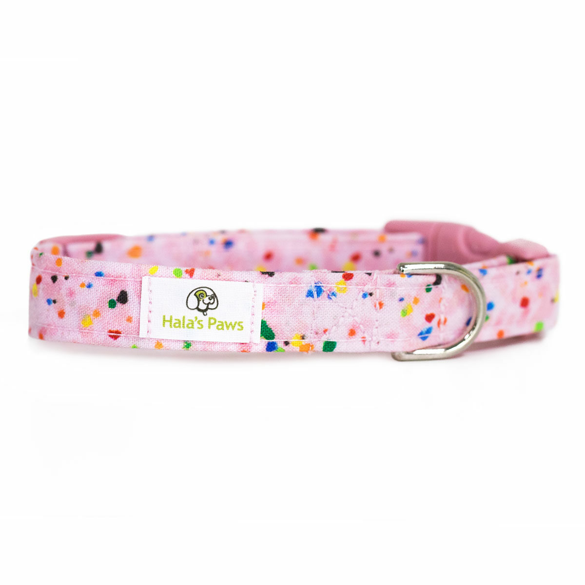 Hala's Paws Collar Light Pink Confetti