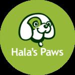 Hala's Paws Logo