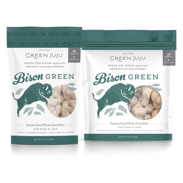 Green Juju Freeze-Dried Whole Food Bites Bison Green Dog & Cat Treats
