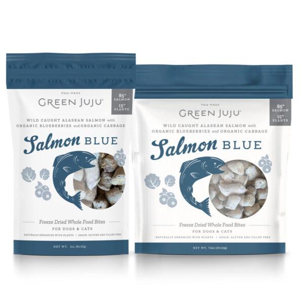 Green Juju Freeze-Dried Whole Food Bites Salmon Blue Dog & Cat Treats