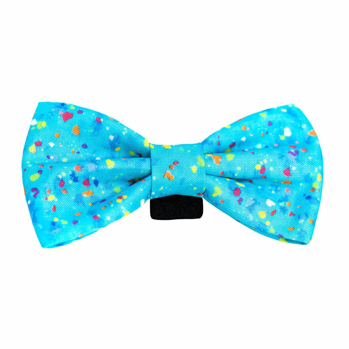 Halas Paws Dog Bow Tie (Confetti Blue)