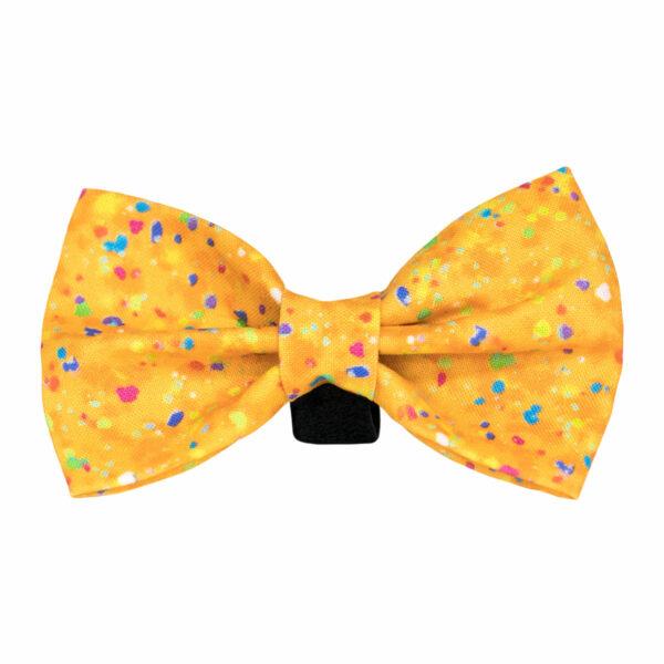 Halas Paws Dog Bow Tie (Confetti Orange)