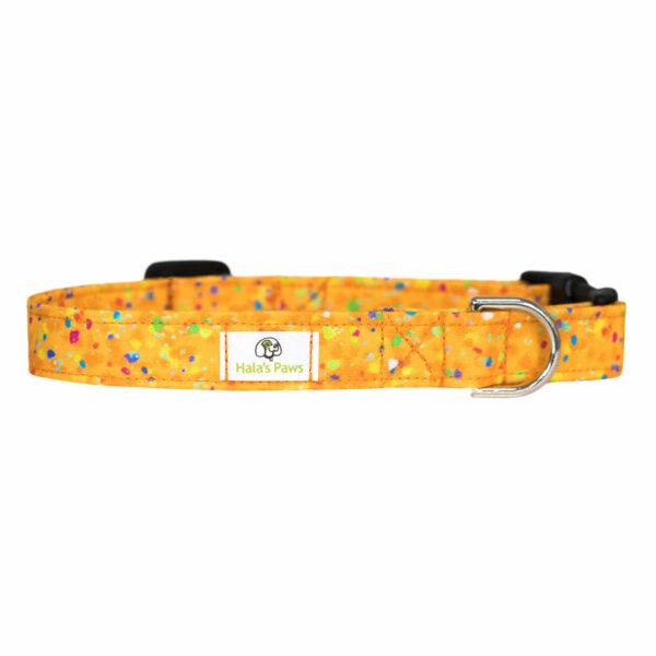 Halas Paws Dog & Cat Collar (Confetti Orange)